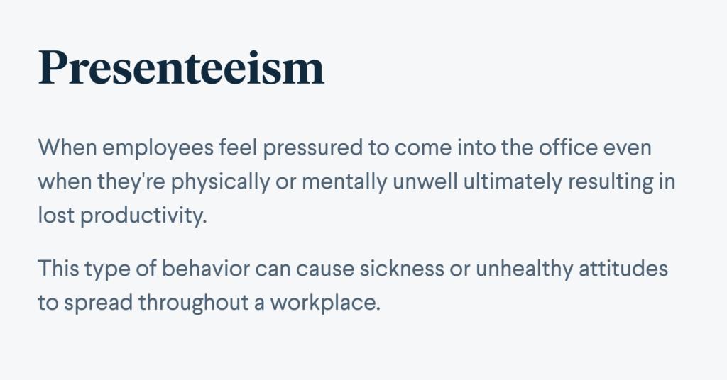 Presenteeism definition