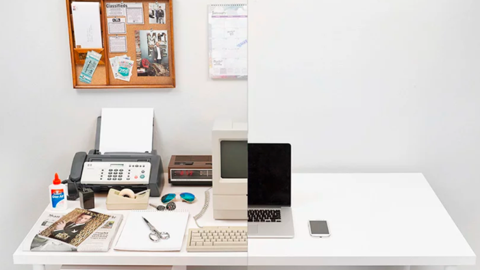 Work spaces have changed as technology has gotten more portable
