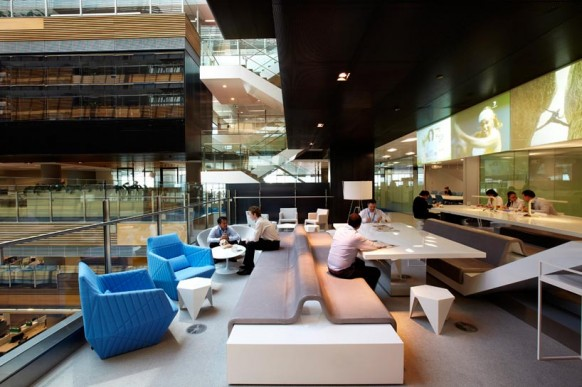 ANZ Bank's activity-based working environment office design