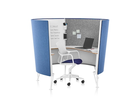 Try customizable workstations to give employees control over how they work as an easy open office fix.
