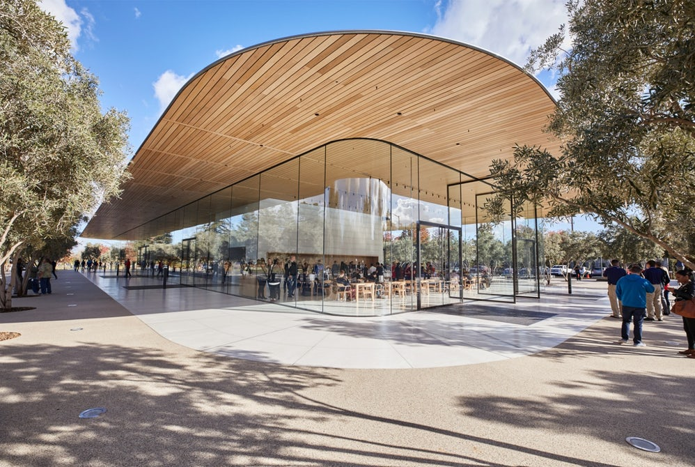 Apple Park Visitor Center Wooden Roof