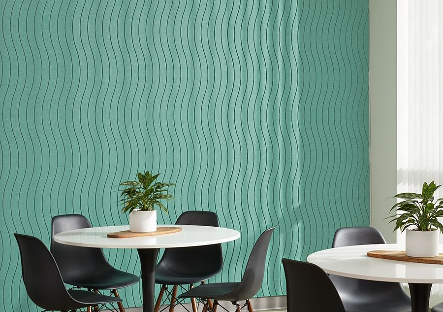 Noise dampening fabrics and panels are a great open office hack to reduce noise.