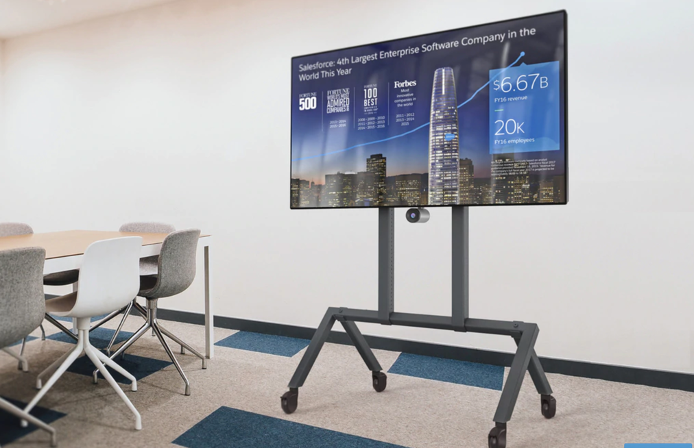 TV carts enable teams to meet in open areas
