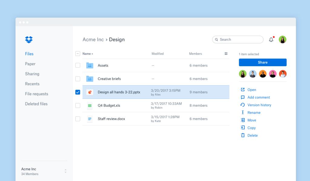 Dropbox digital workplace tool future of work