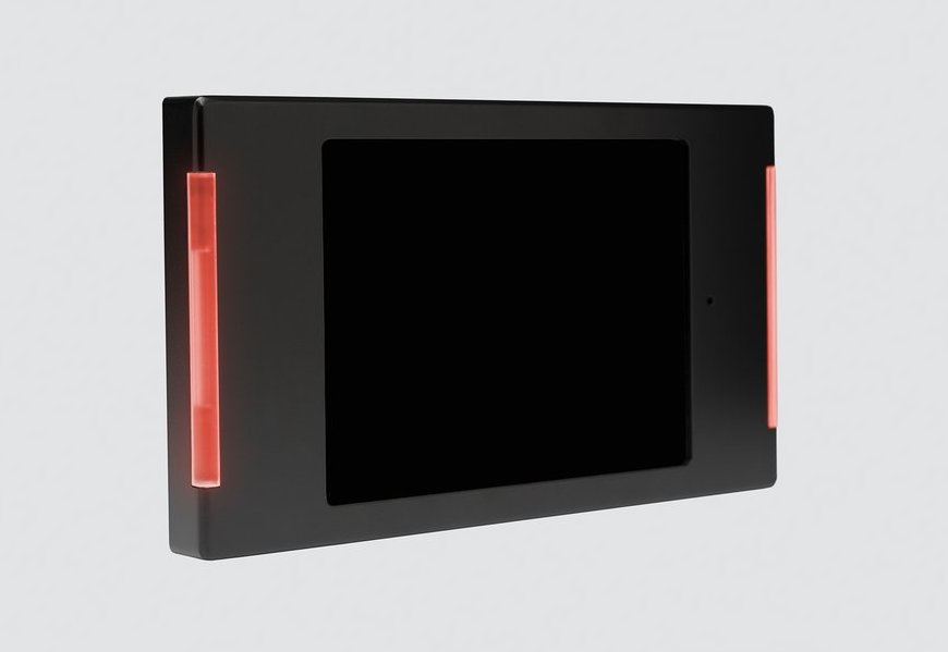 Powerbx's LED mount in action for conference room display tablets