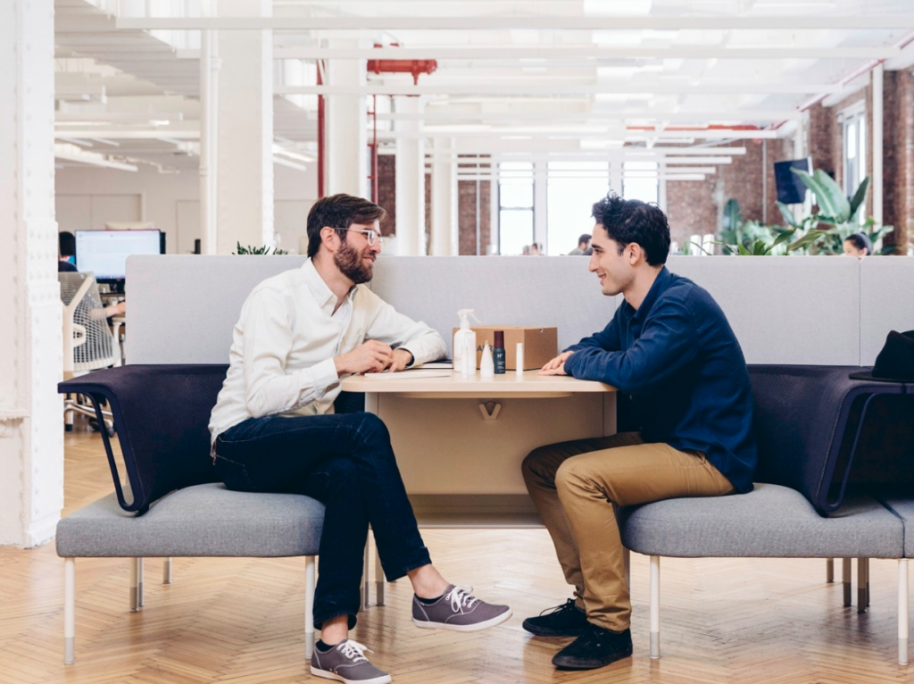 Add on huddle spaces are an easy way to facilitate private conversations