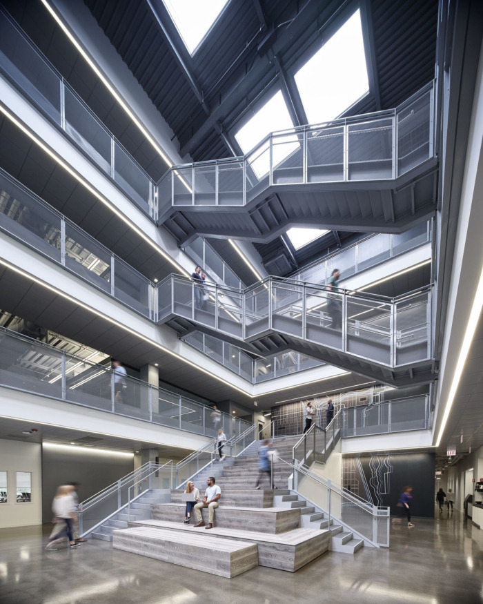 C.H. Robinson's Chicago office collaboration stairs for all types of employees