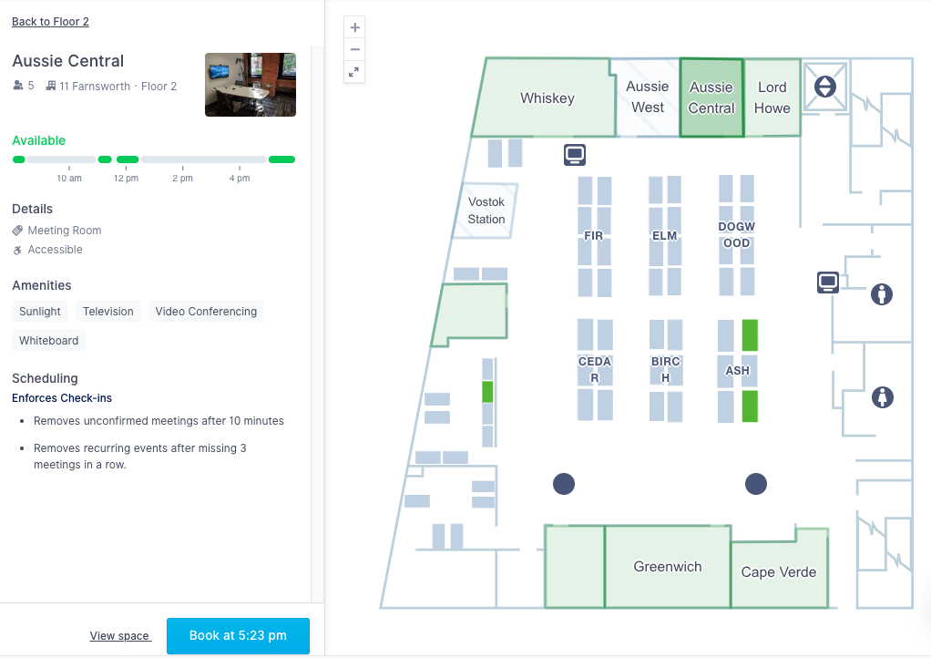 Admins can customize meeting room scheduling software based on permission settings and more.