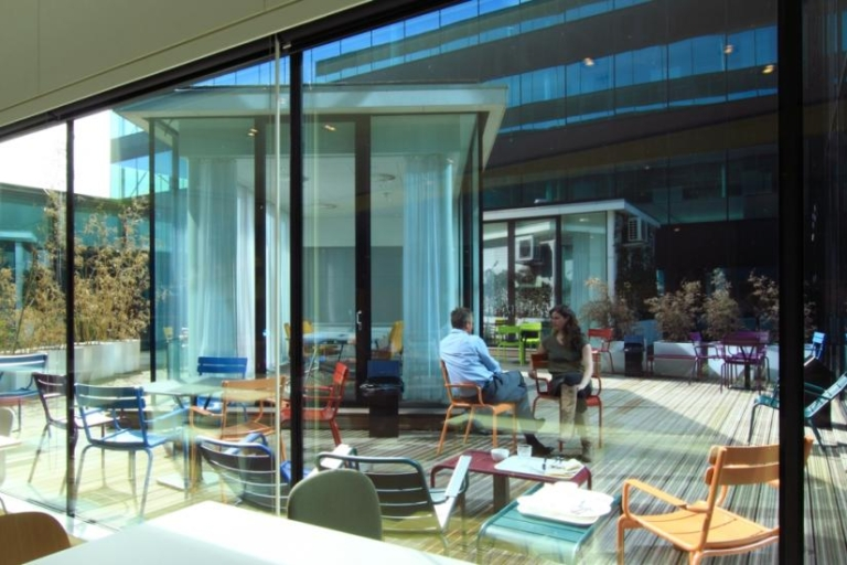 Microsoft activity-based working environment outdoor patio