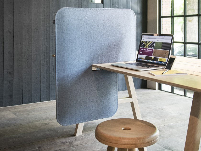 Desk dividers add a sense of ownership to a shared workplace