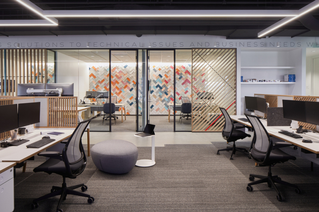 with several generations in the workplace, providing private workspaces for traditionalists is key