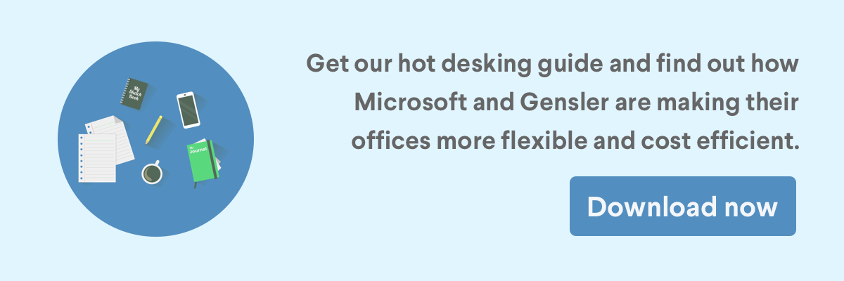 Call to action to download our hot desking guide