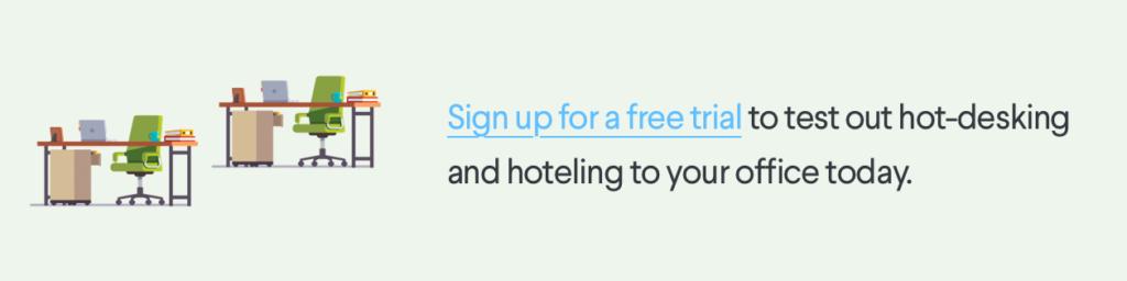 Free Trial hot-desking desk hoteling