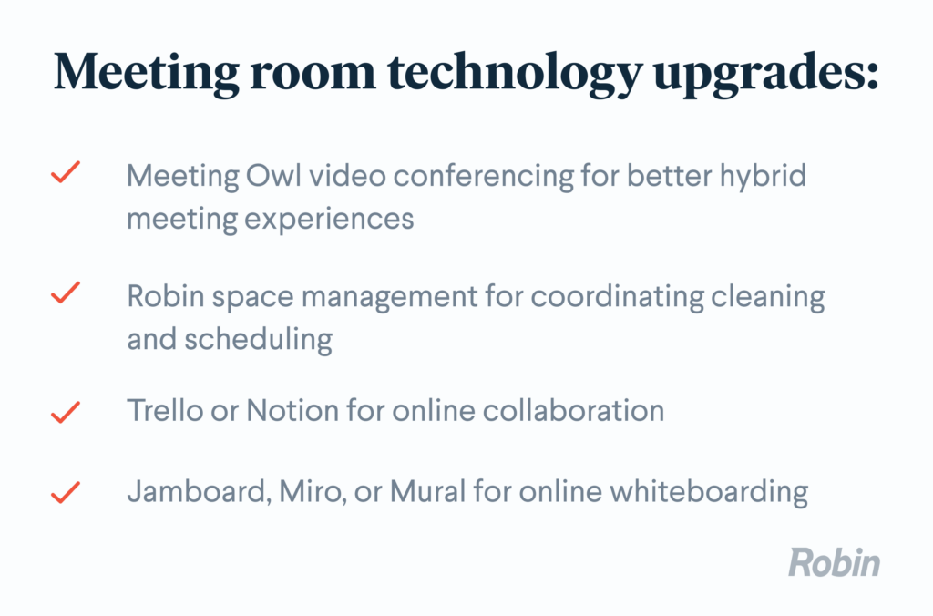 Meeting room and technology upgrades