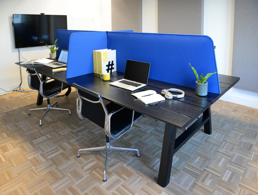 desk dividers are a quick open office hack to reintroduce privacy