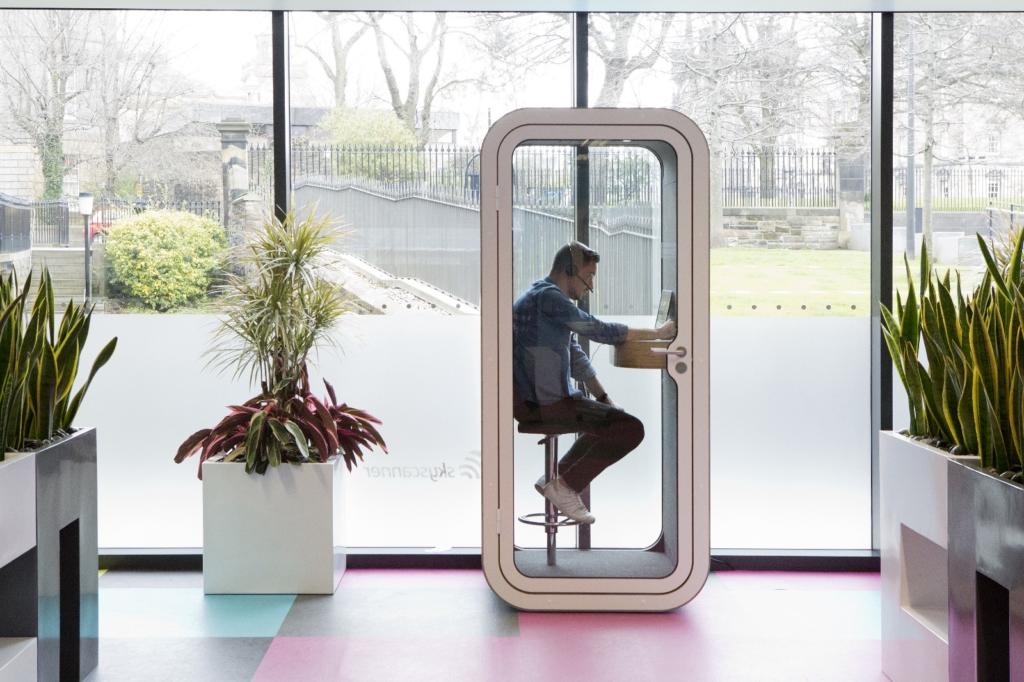 Skyscanner office pod future of work