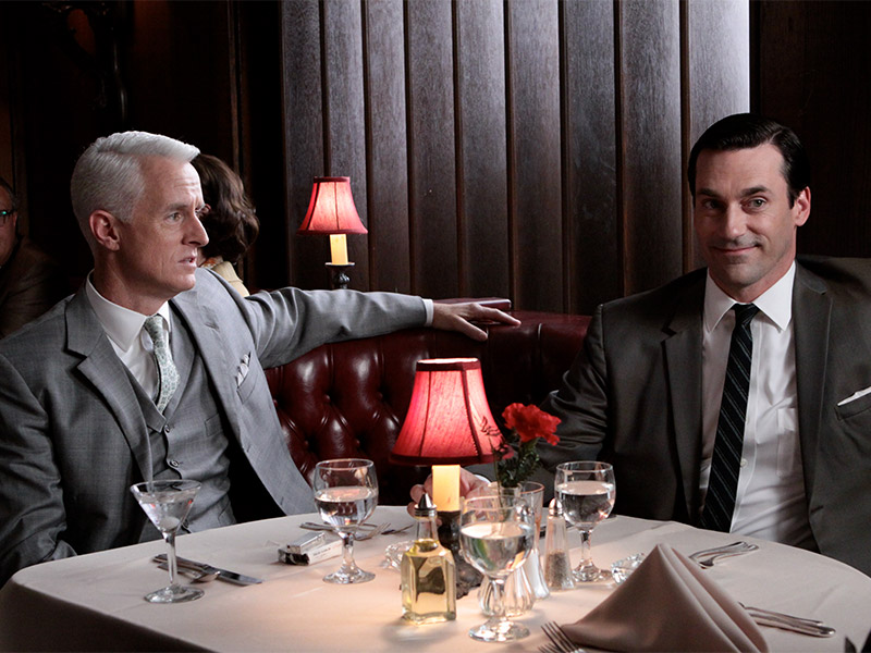 Business lunch Mad Men Roger Sterling Don Draper Martini Lunch
