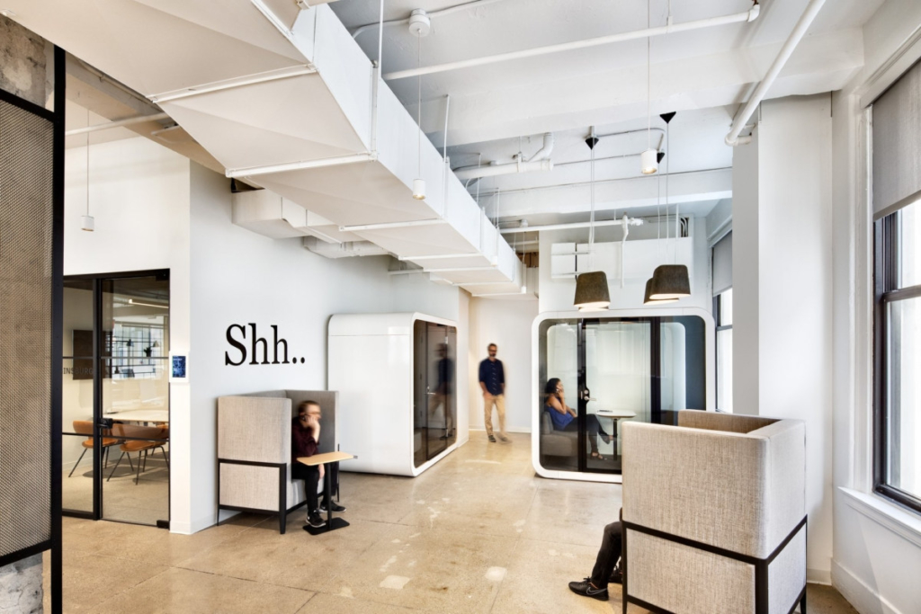 quiet cars for employee phone calls at Archetype