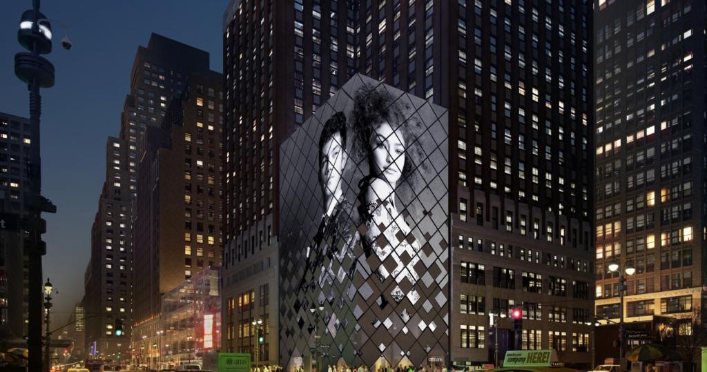 M Moser Media Façade media tower workplace design