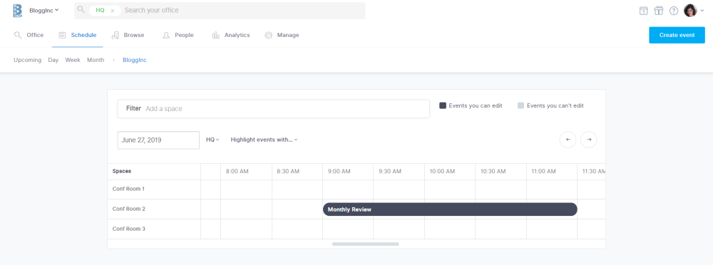 once you schedule a recurring meeting, it automatically shows up in Robin's dashboard