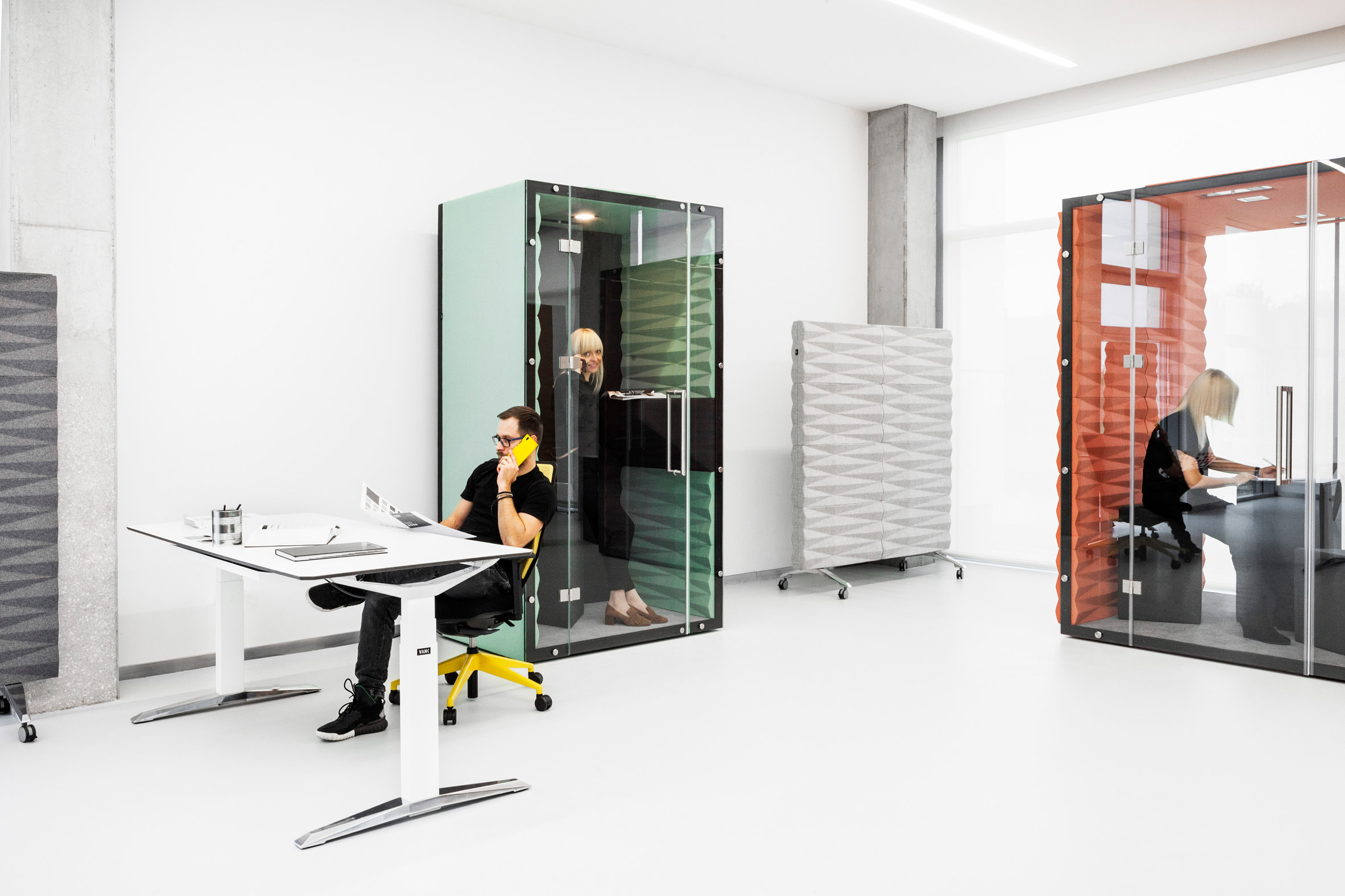 A pod for activity-based working in an open office layout