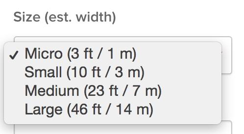Room sizes
