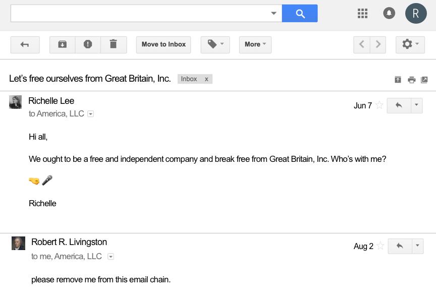 Richelle Lee Resolution Email Chain Google