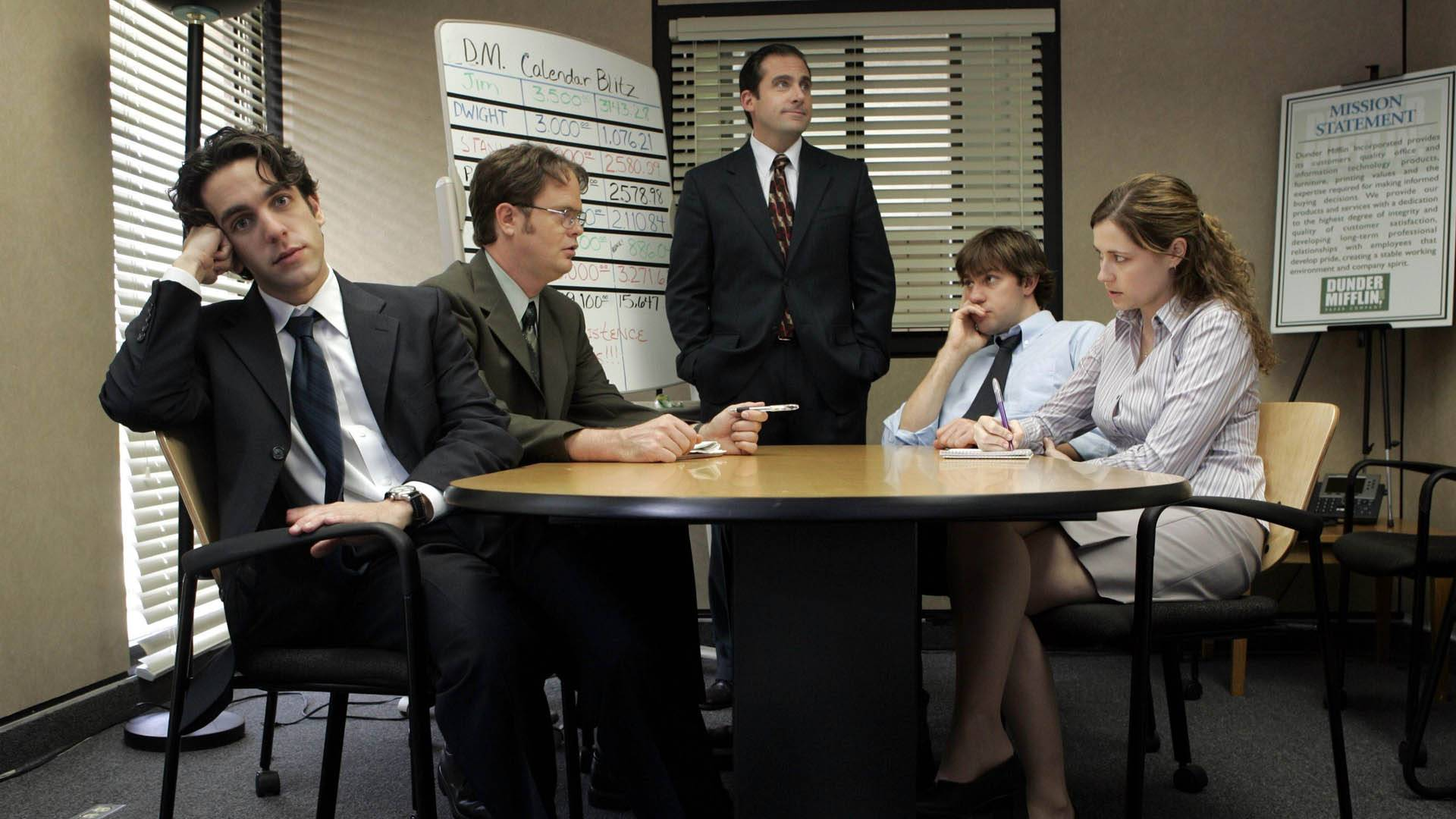 The Office conference room office layout