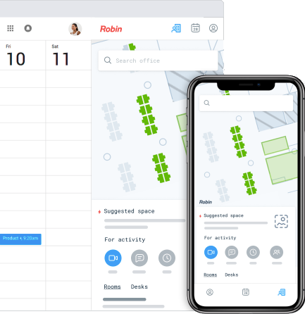 meeting scheduling software made easy with Robin's mobile app