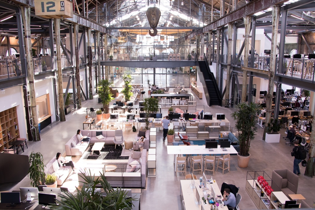 Gusto's SF offices epitomize the functional open office layout