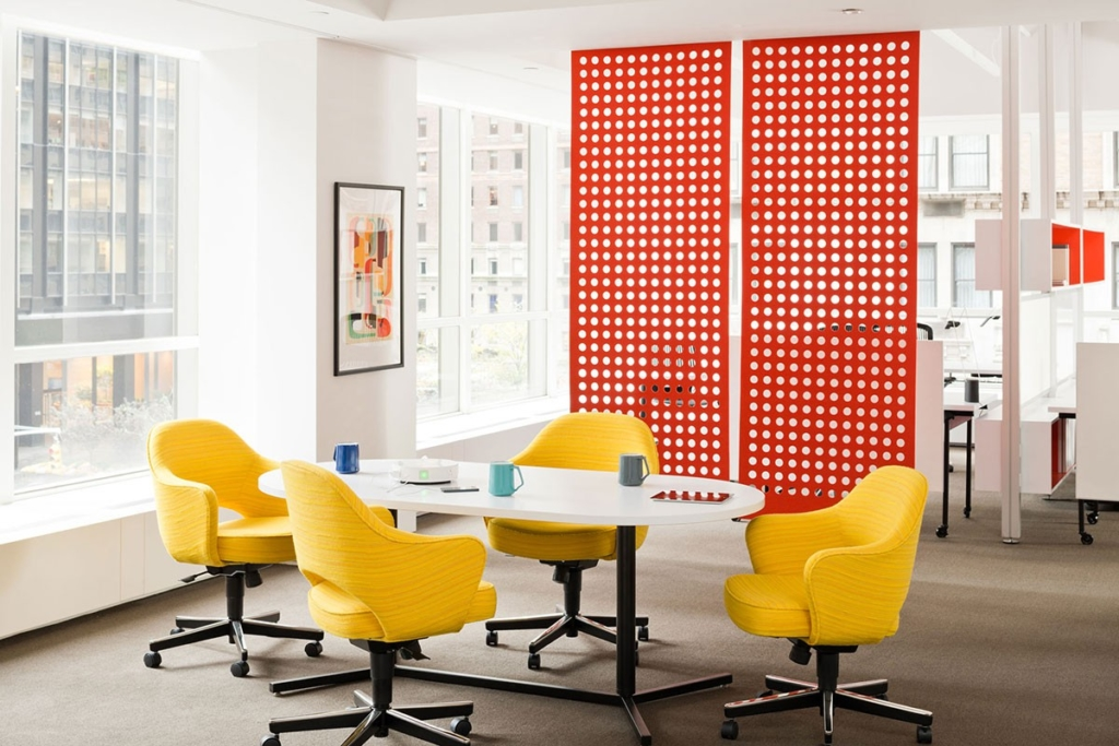 Temporary walls can create a sense of privacy between workspaces for a quick open plan office solution.