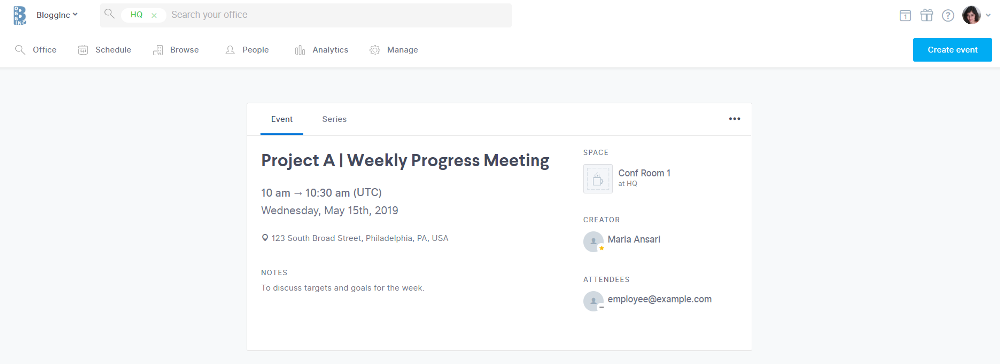 view meeting details in the robin dashboard and make edits directly in there