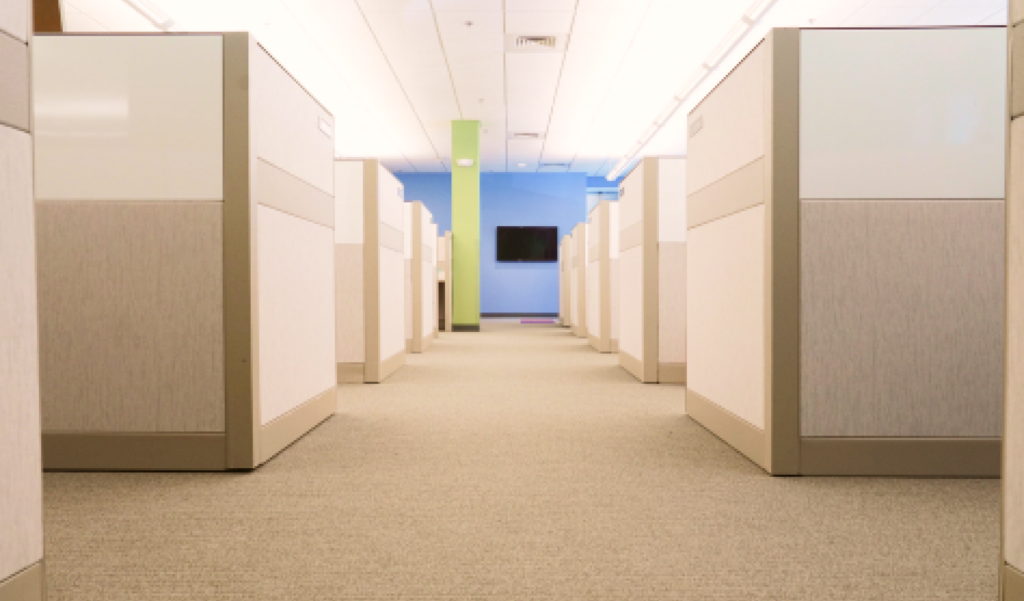 closed-plan office floor plan