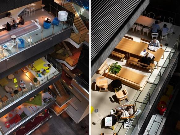 "Rearrange office furniture into ""neighborhoods"" as a hack to open office complaints"