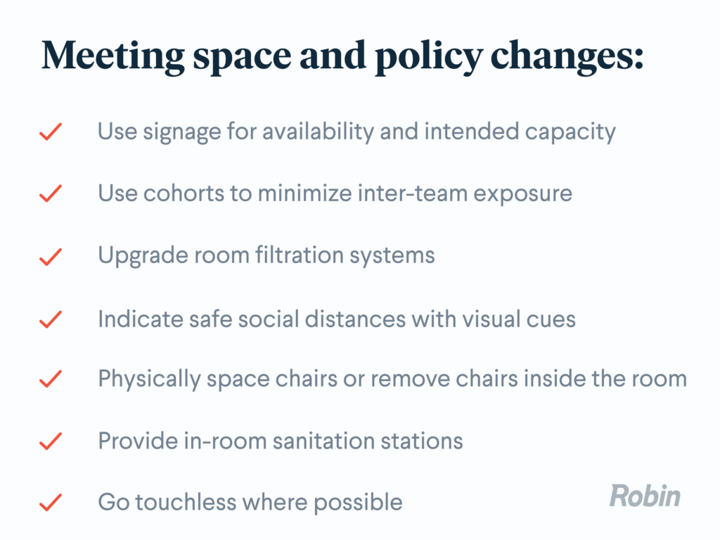 Meeting space and policy change updates