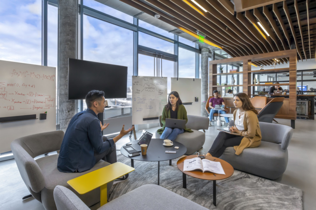 By creating transparent and comfortable spaces to share feedback and openly collaborate