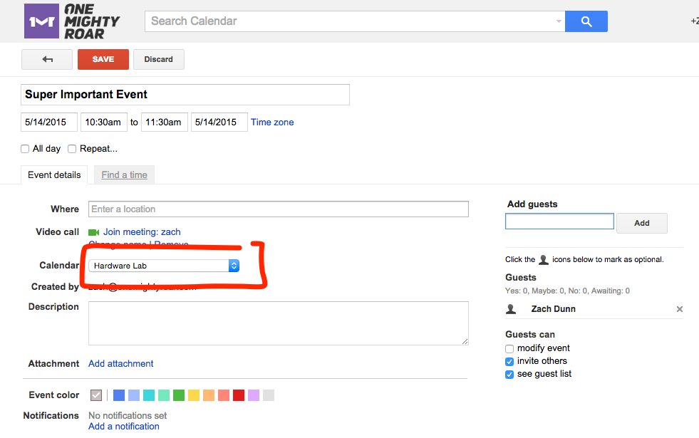 Booking on a shared resource calendar from outside the domain