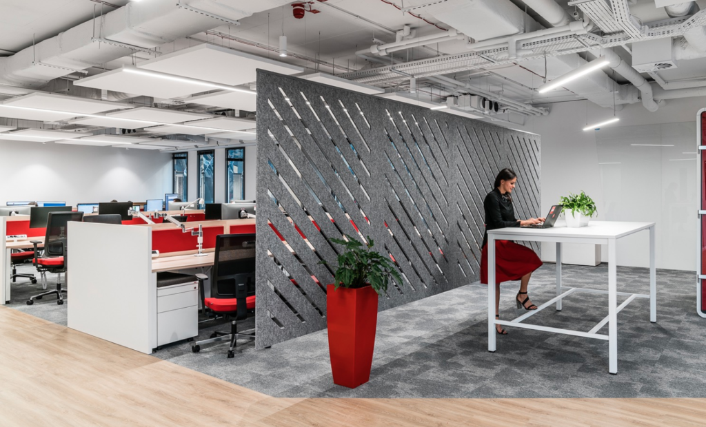 Sound barriers can dampen noise and add intention back to workplace design