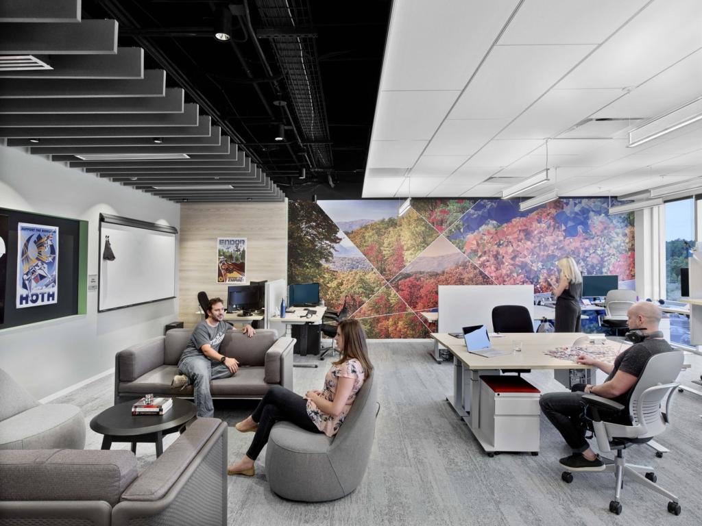 M Moser Microsoft Raleigh office workplace design