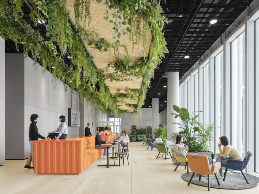 Incorporate environmental elements into workplace design strategy to improve health and attract and retain top talent
