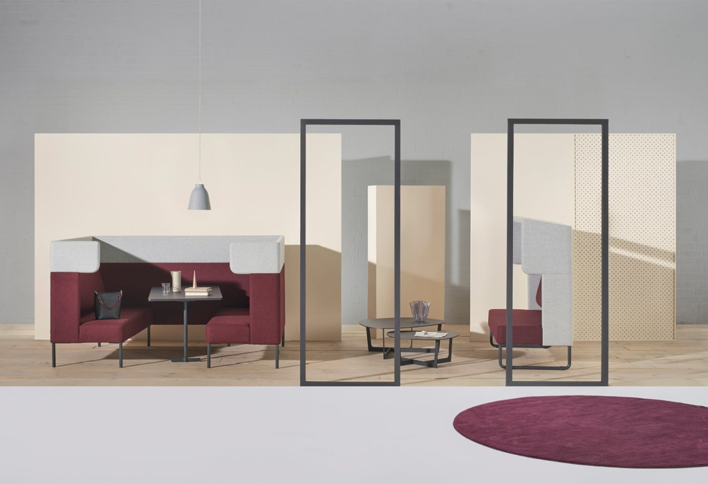 Add-on furniture is an easy way to create private spaces to help fix the open office.