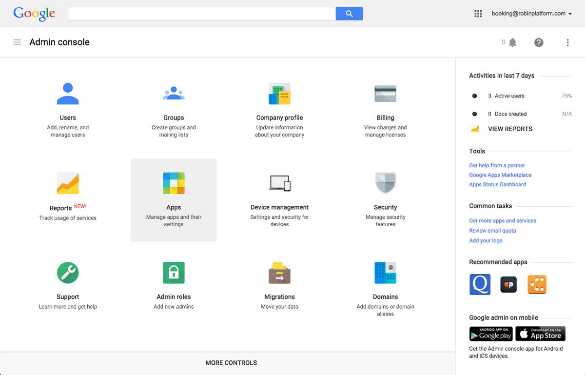 Calendar app settings in Google Admin