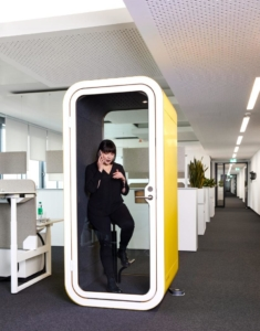Framery phonebooths can help decrease office noise