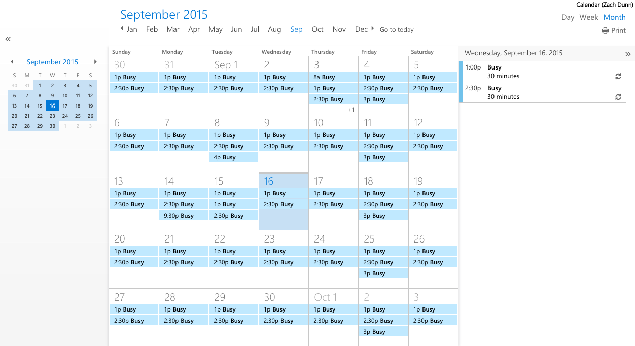 Public shared office 365 calendar for Google users
