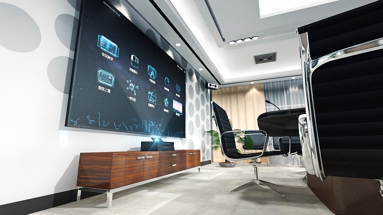 Modern conference room equipment