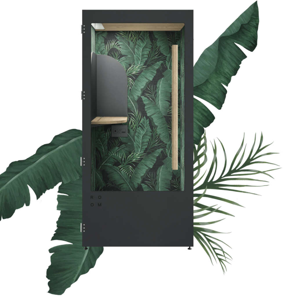 Phone booths are a popular solution to decreasing phone call related noise in the open office