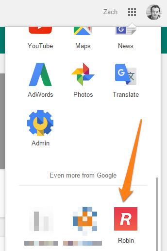 SAML app in Google dropdown