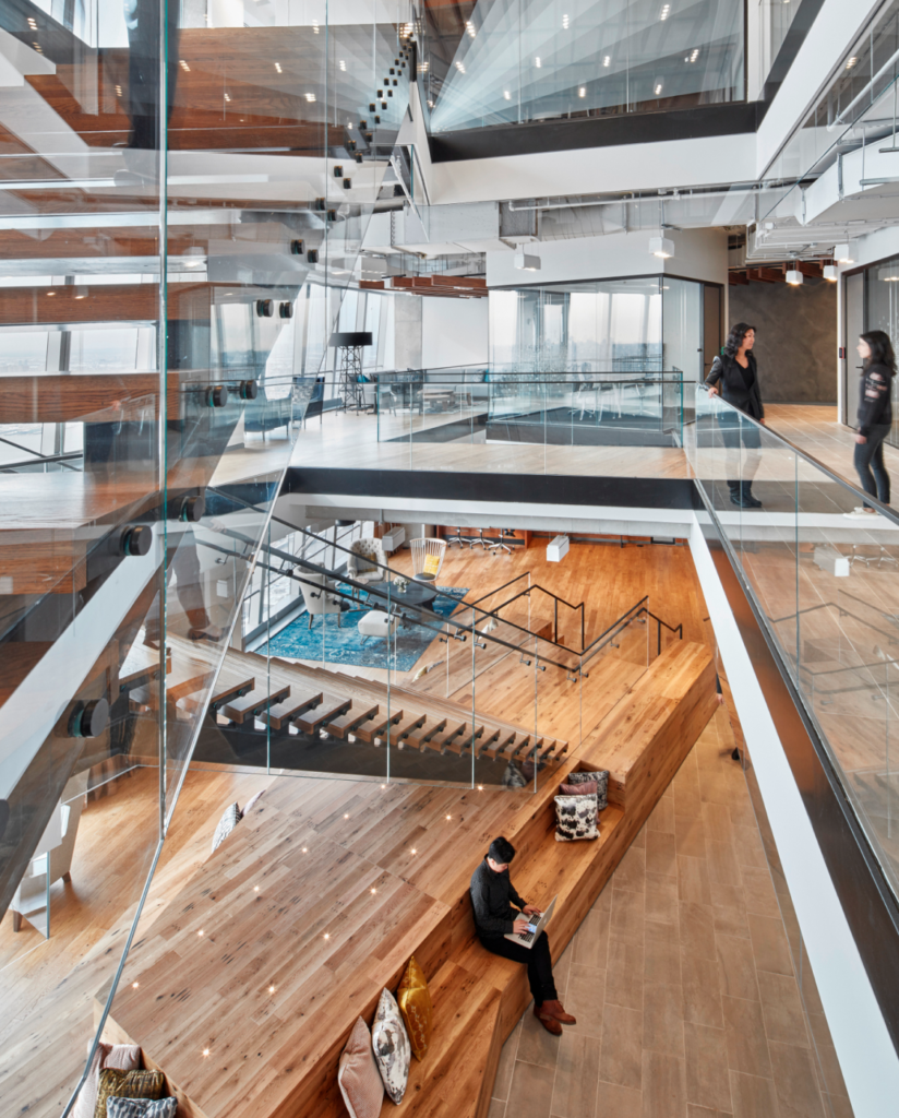 BCGs NYC Office with excellent workplace experience design