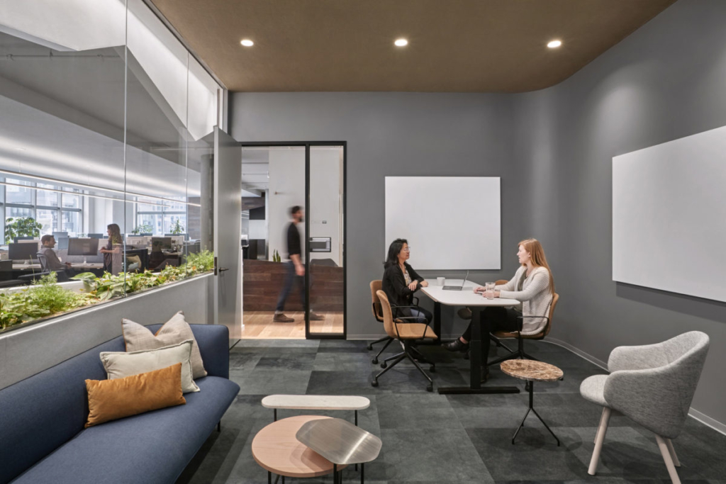 Make sure to provide a balance of private and collaborative space for baby boomers in a generational diverse workplace