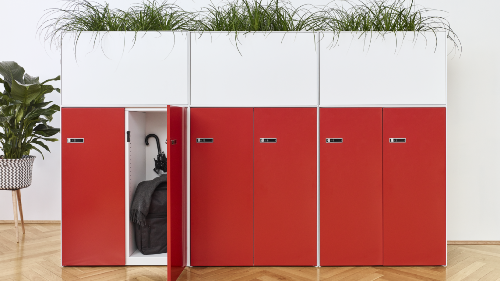 Lockers are an easy to implement open office hack that gives employees control over their personal items
